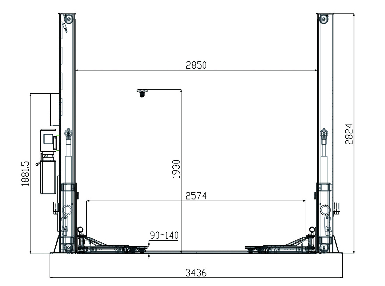 Two Post Car Lift Schematic Detailed Schematics Diagram For Garage From Anona Repair Company Gave Move Choice Model